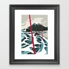 Breaking the Waves II Framed Art Print