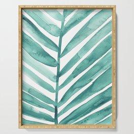 Green Palm Leaf Crop Serving Tray