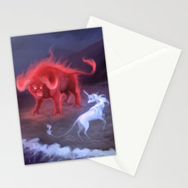 Unicorn and Bull Stationery Cards