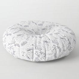 Pizza Art Mandala Floor Pillow