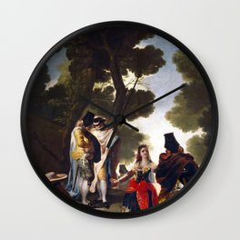 """Francisco Goya """"The Maja and the Cloaked Men or A Walk through Andalusia"""" Wall Clock"""