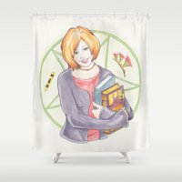 buffy Shower Curtains featuring Willow Rosenberg of Buffy by A Rose Cast