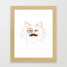 A Gentleman Cat Framed Art Print