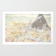 fluid Art Print