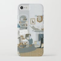 nursery iPhone & iPod Cases featuring Baby Animal Nursery by Yuliya