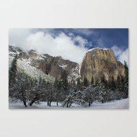 yosemite Canvas Prints featuring Yosemite by Michelle Chavez
