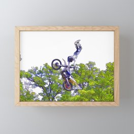 Hand Stand Pro - Freestyle Motocross Stunt Framed Mini Art Print
