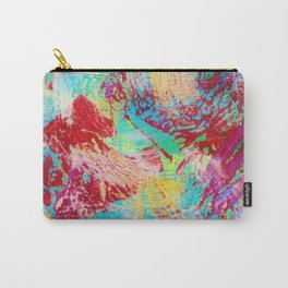 REEF STORM - Fun Bright BOLD Playful Rainbow Colors Underwater Ocean Reef Theme Coral Aquatic Life Carry-All Pouch