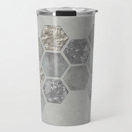 Grey Elegant Hexagon Travel Mug