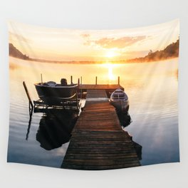 Sunrise at the Cottage Wall Tapestry
