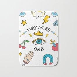 Wayward One - Old School Tattoo Flash Art Bath Mat