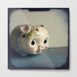 Pretty piggy Metal Print