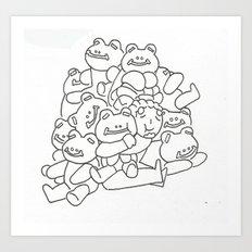 Lucio Frog Pile  Art Print