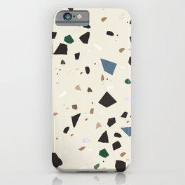 Bluestone Eden Green Black Terrazzo #1 #decor #art #society6 iPhone Case