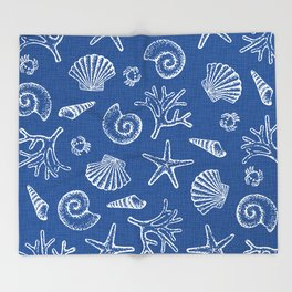 Lovely life on beach Throw Blanket