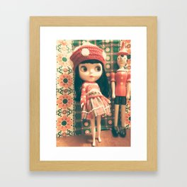 blythe and pinnocio Framed Art Print