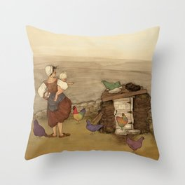 On the Land Throw Pillow