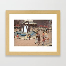 Dizengoff Square in The 80s Framed Art Print