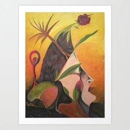 Rose Painting - Portrait  Art Print