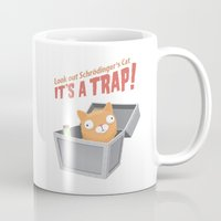 bazinga Mugs featuring It's a trap! by See Mike Draw