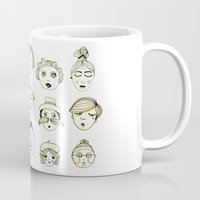 faces Mugs featuring Faces by Wood + Ink