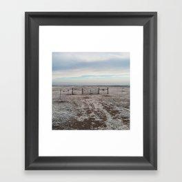 Snowy Gate Framed Art Print