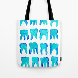 Turquoise Molars - Vertical Tote Bag