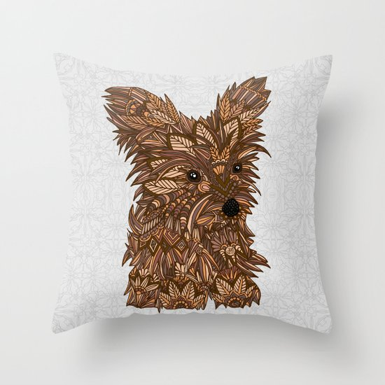 Cute Yorkie Throw Pillow By Artlovepassion Society6