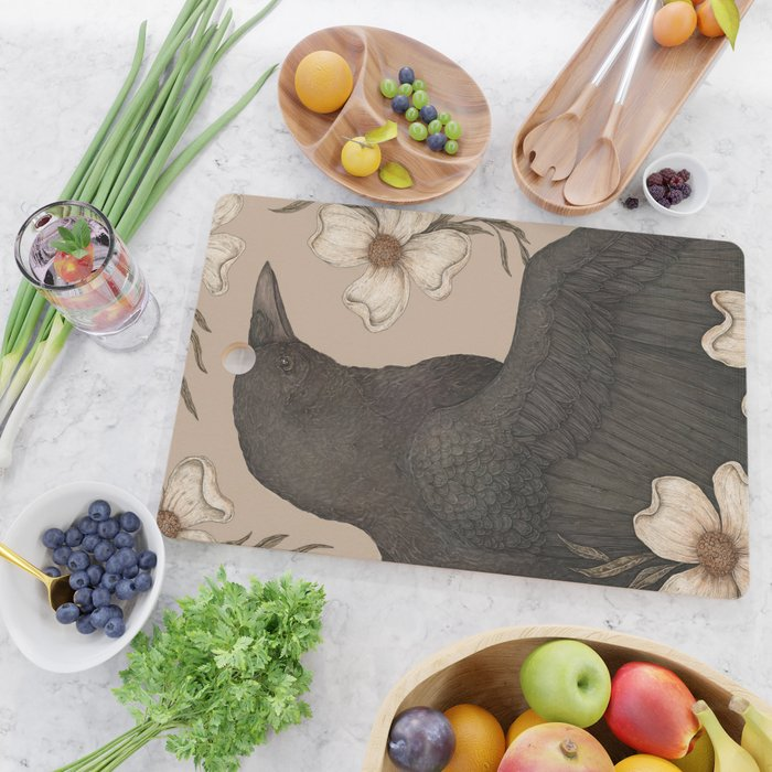 The Crow and Dogwoods Cutting Board