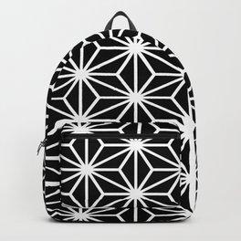 Geometric abstract modern black white stripes Backpack