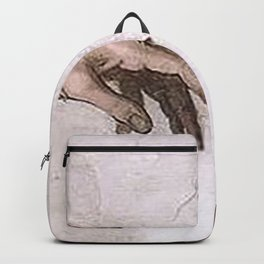 Original The Creation of Adam Hands Touch Backpack
