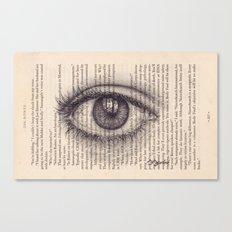 Eye in a Book Canvas Print