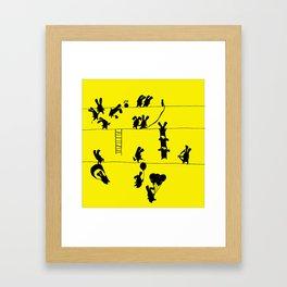Fighting Bunnies Framed Art Print