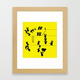 Fighting Bunnies Framed Art Print