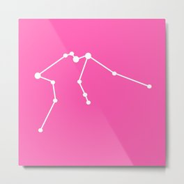 Aquarius (White & Pink) Metal Print