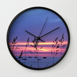 Simplicity by the Sea Wall Clock