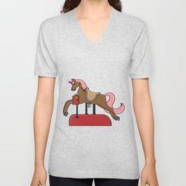Children horse Pony Horse riding gift present Unisex V-Neck