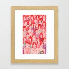 Girl Crowd Framed Art Print