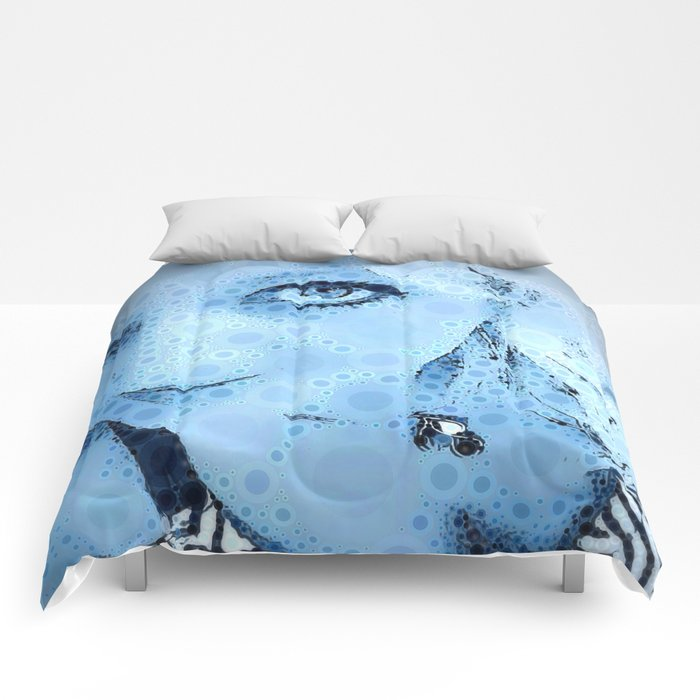 """""""Blue for You"""" - RendereD! POP! Art Print Comforters"""
