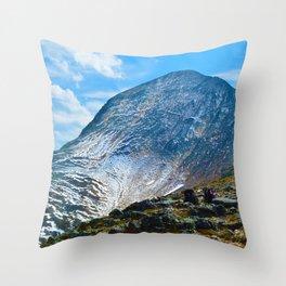 Pyramid Mountain in Jasper National Park, Canada Throw Pillow