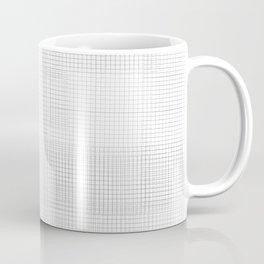 White Squares Black Grid Coffee Mug