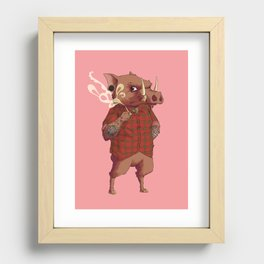 B is for Babirusa Recessed Framed Print