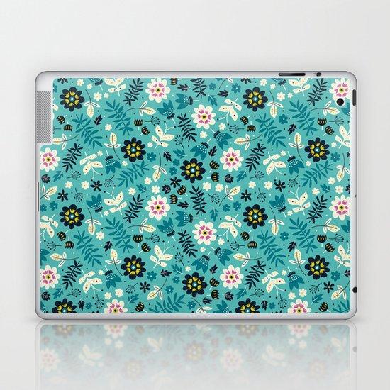 Fresh Blossoms (Greens) Laptop & iPad Skin