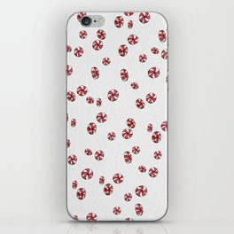 Peppermint Candy in White iPhone Skin