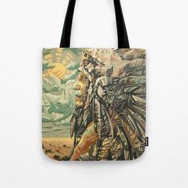 native american portrait Tote Bag