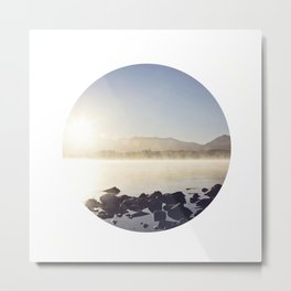 Morning Tekapo Mist Metal Print