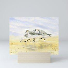 Trio Sandpipers Mini Art Print