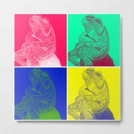 Mr Froggy, Goes Pop Art Metal Print