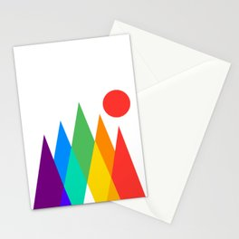 Rainbow Mountains Stationery Cards