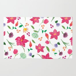 Tropical themed pattern Rug